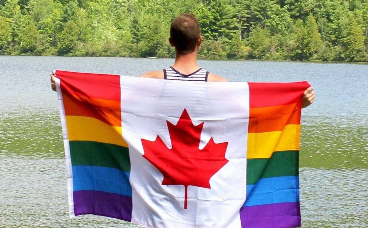 Canadian Gay Flag Picture