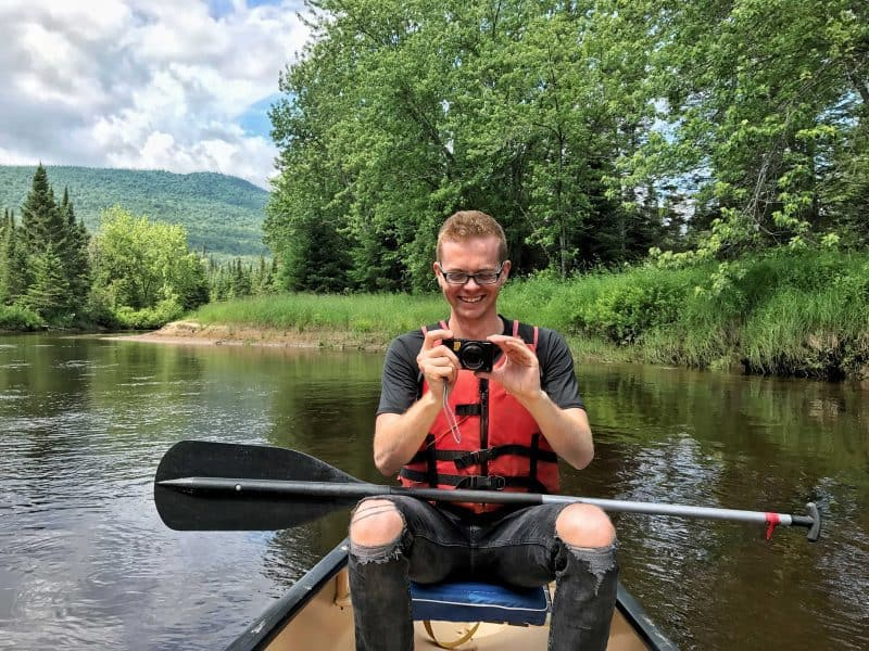 boy canoeing