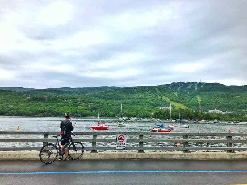 biking in mont tremblant