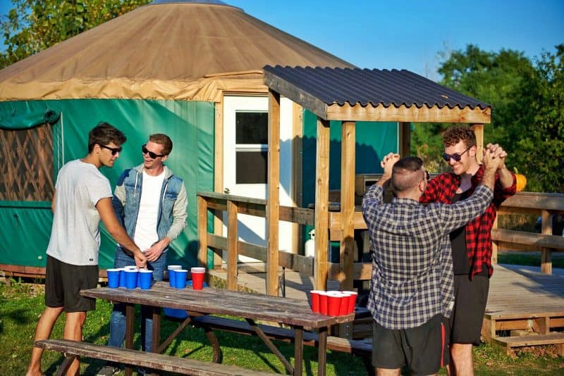 beer pong camping