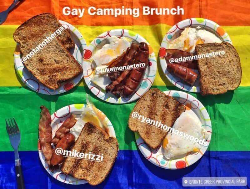 gay camping brunch