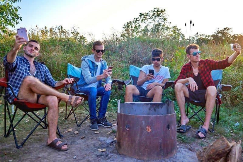 gay guys camping