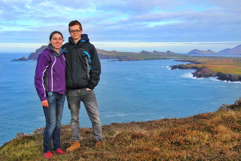tourist couple photo ireland