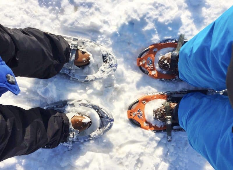 snowshoeing romantic blue mountain
