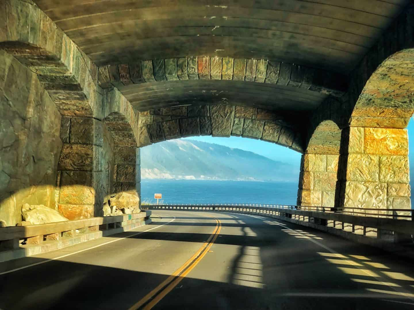 big sur covered tunnel