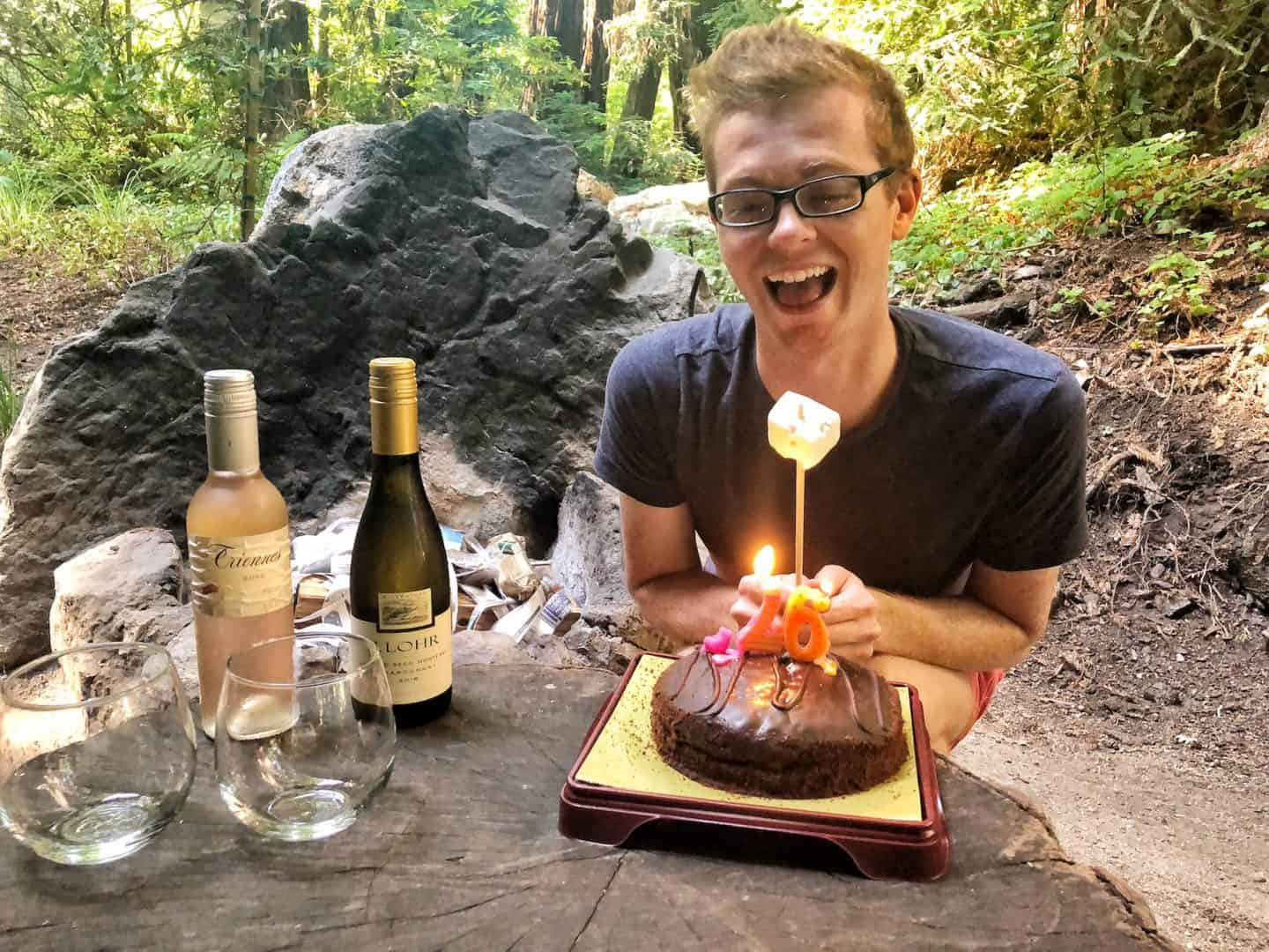 birthday in Big Sur