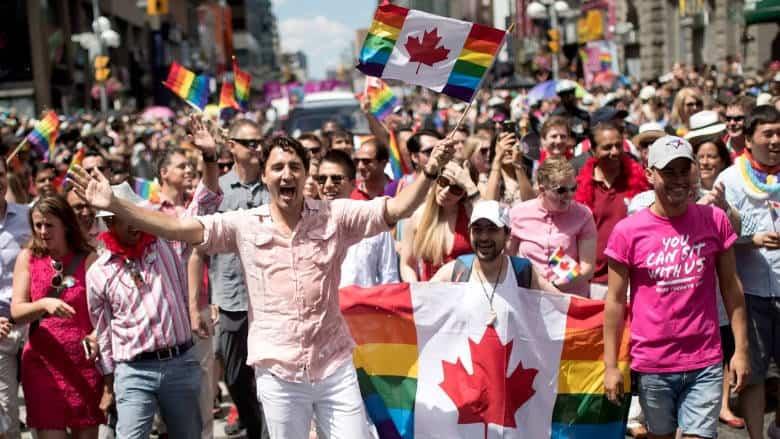 gay pride justin trudeau