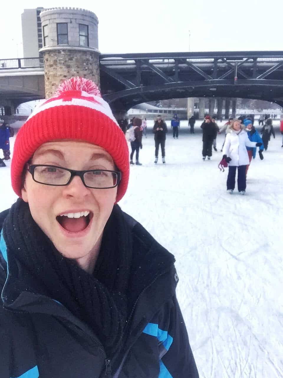 Out With Ryan Skating on Rideau Canal